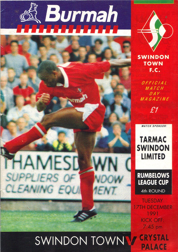<b>Tuesday, December 17, 1991</b><br />vs. Crystal Palace (Home)