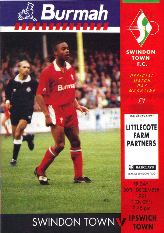 <b>Friday, December 20, 1991</b><br />vs. Ipswich Town (Home)