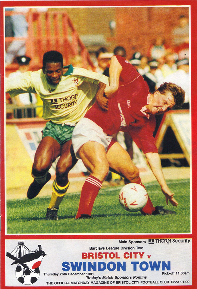 <b>Thursday, December 26, 1991</b><br />vs. Bristol City (Away)