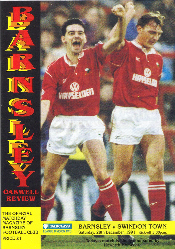 <b>Saturday, December 28, 1991</b><br />vs. Barnsley (Away)