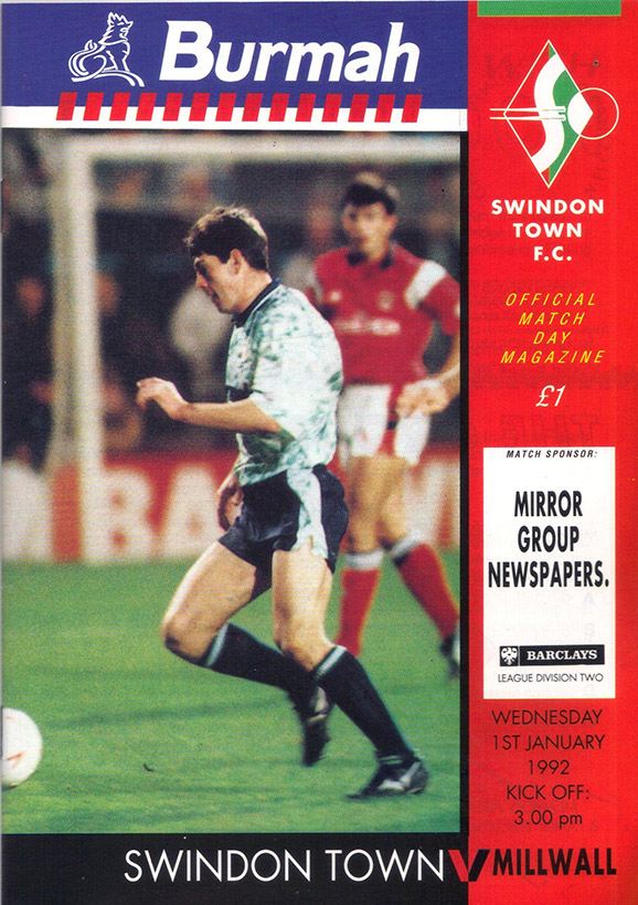 <b>Wednesday, January 1, 1992</b><br />vs. Millwall (Home)