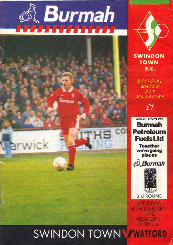 <b>Saturday, January 4, 1992</b><br />vs. Watford (Home)