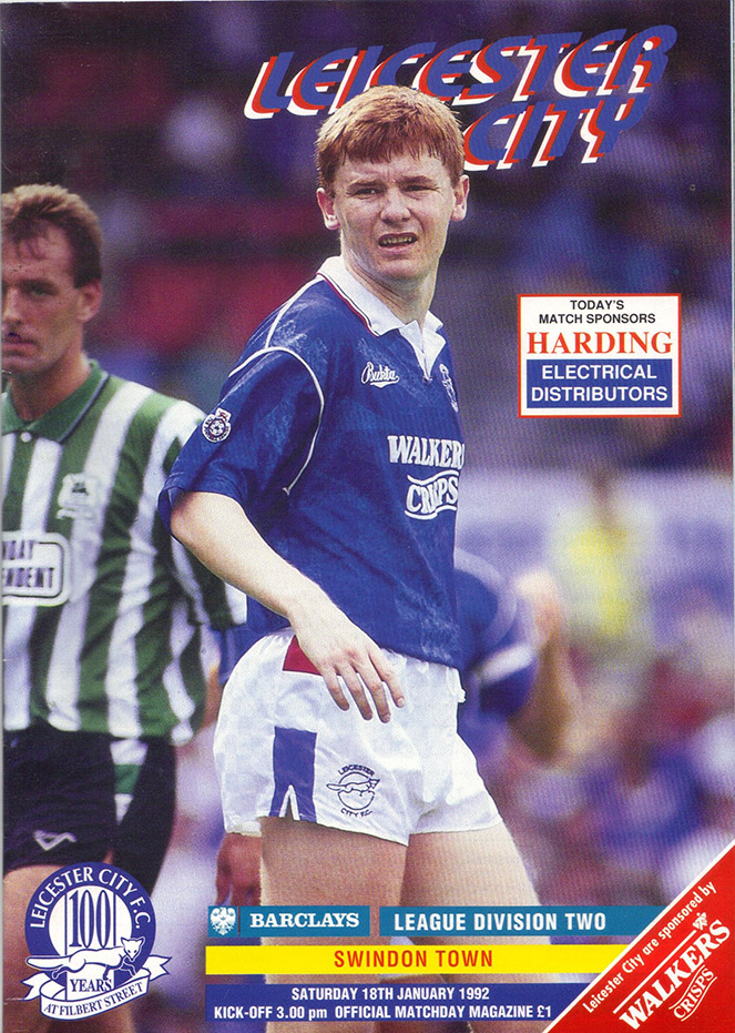 <b>Saturday, January 18, 1992</b><br />vs. Leicester City (Away)