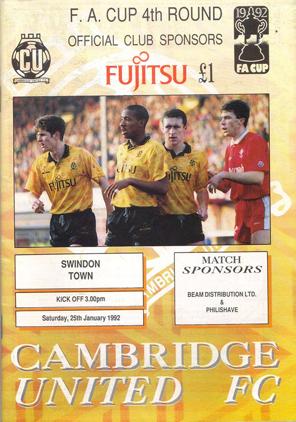 <b>Saturday, January 25, 1992</b><br />vs. Cambridge United (Away)