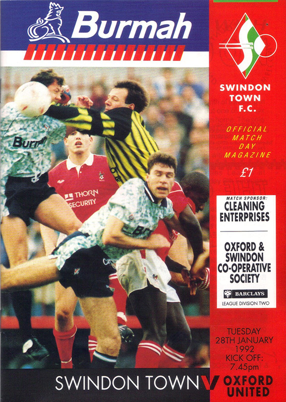 <b>Tuesday, January 28, 1992</b><br />vs. Oxford United (Home)