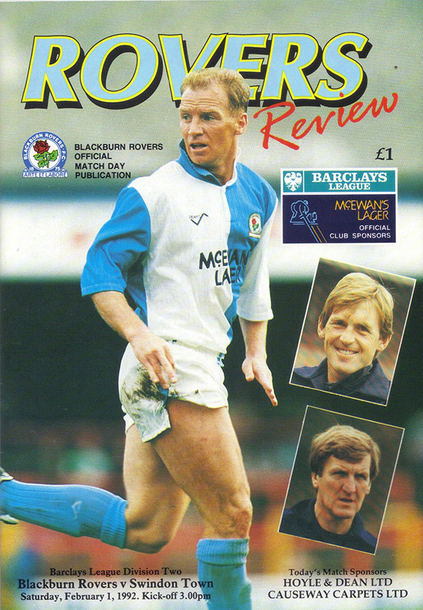 <b>Saturday, February 1, 1992</b><br />vs. Blackburn Rovers (Away)