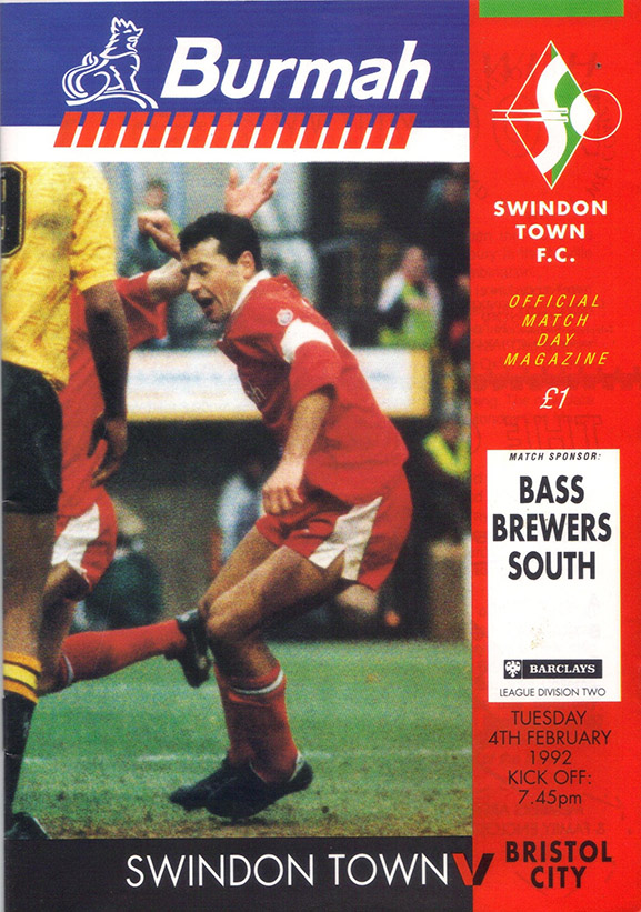 <b>Tuesday, February 4, 1992</b><br />vs. Bristol City (Home)