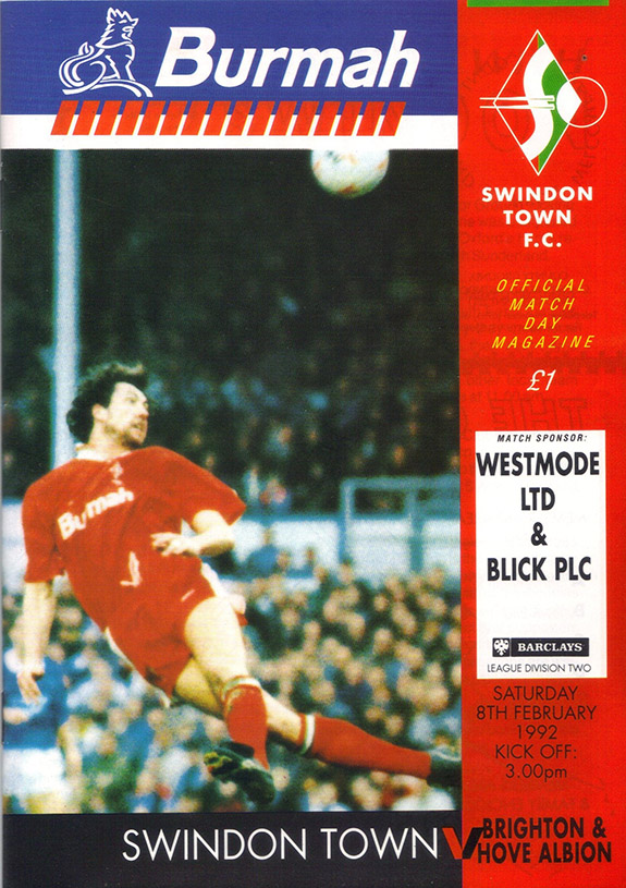 <b>Saturday, February 8, 1992</b><br />vs. Brighton and Hove Albion (Home)