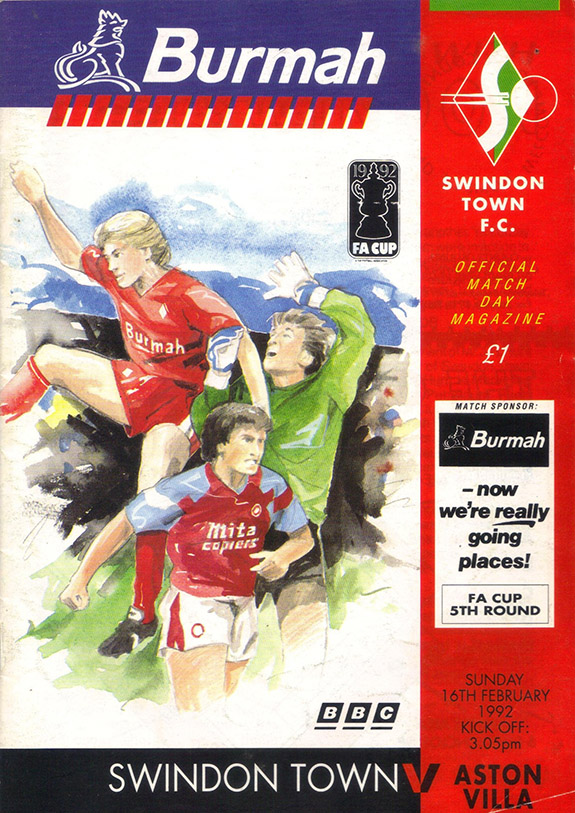 <b>Sunday, February 16, 1992</b><br />vs. Aston Villa (Home)