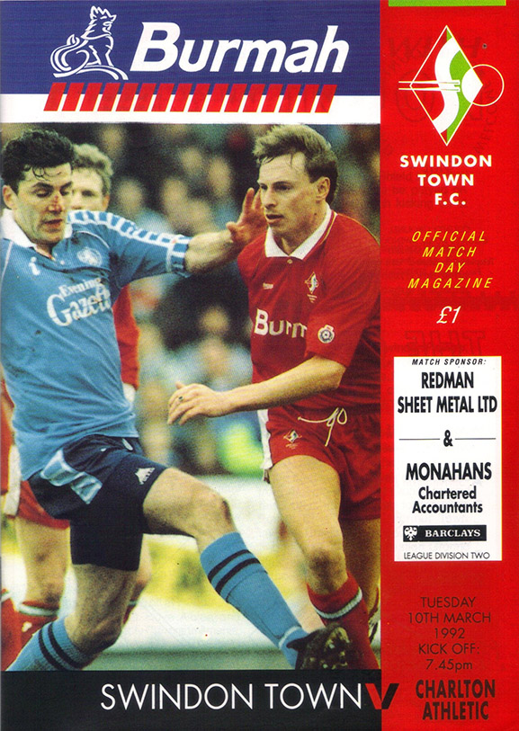 <b>Tuesday, March 10, 1992</b><br />vs. Charlton Athletic (Home)