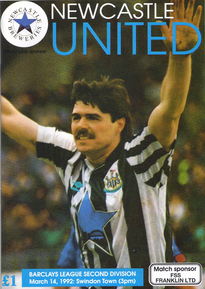 <b>Saturday, March 14, 1992</b><br />vs. Newcastle United (Away)