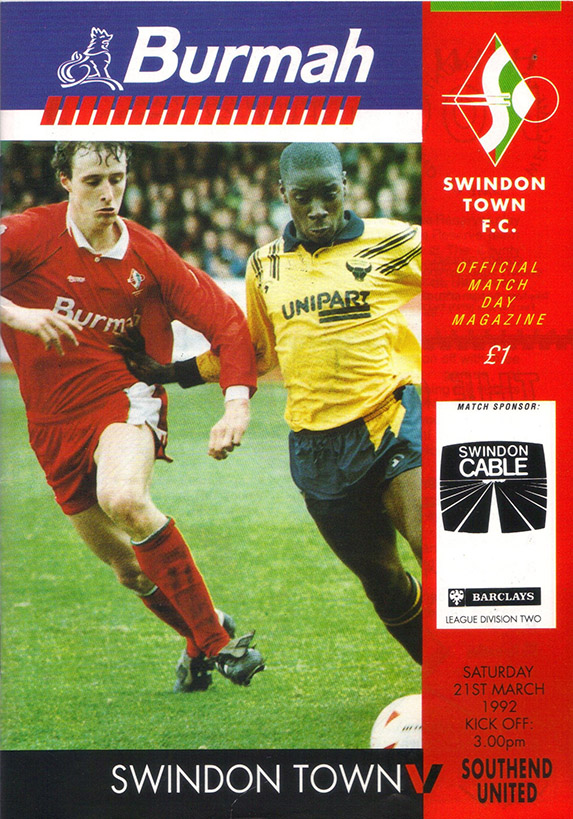 <b>Saturday, March 21, 1992</b><br />vs. Southend United (Home)