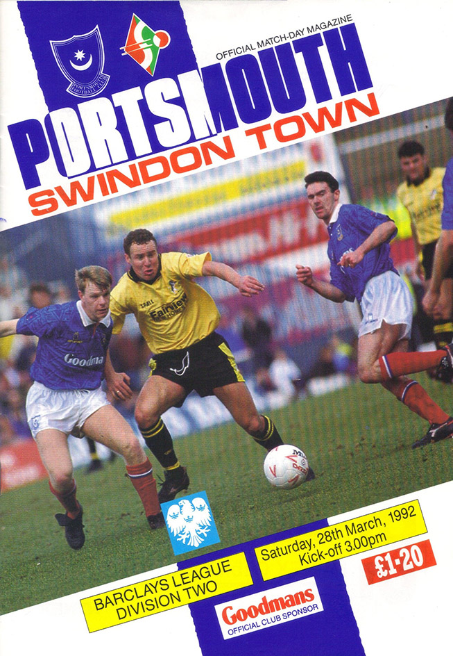 <b>Saturday, March 28, 1992</b><br />vs. Portsmouth (Away)