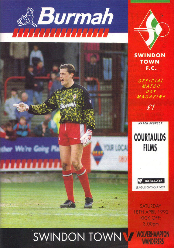 <b>Saturday, April 18, 1992</b><br />vs. Wolverhampton Wanderers (Home)
