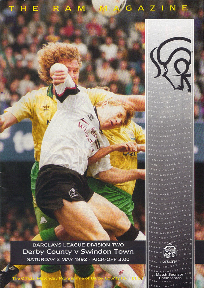 <b>Saturday, May 2, 1992</b><br />vs. Derby County (Away)