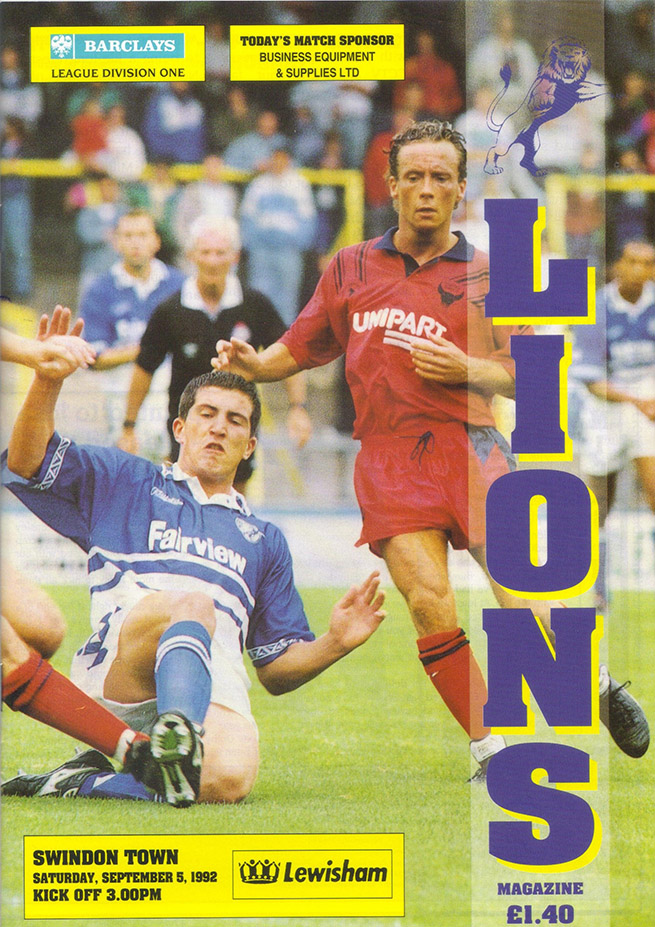 Saturday, September 5, 1992 - vs. Millwall (Away)