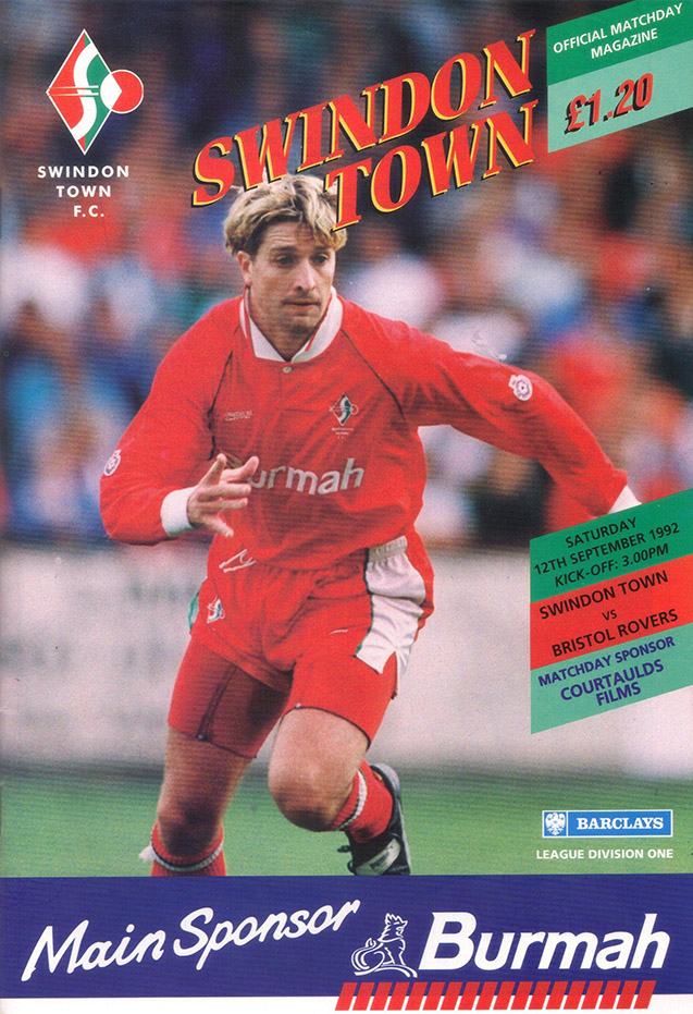 Saturday, September 12, 1992 - vs. Bristol Rovers (Home)