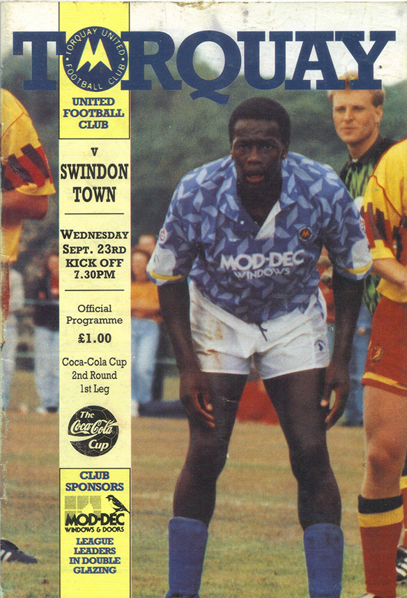 <b>Wednesday, September 23, 1992</b><br />vs. Torquay United (Away)