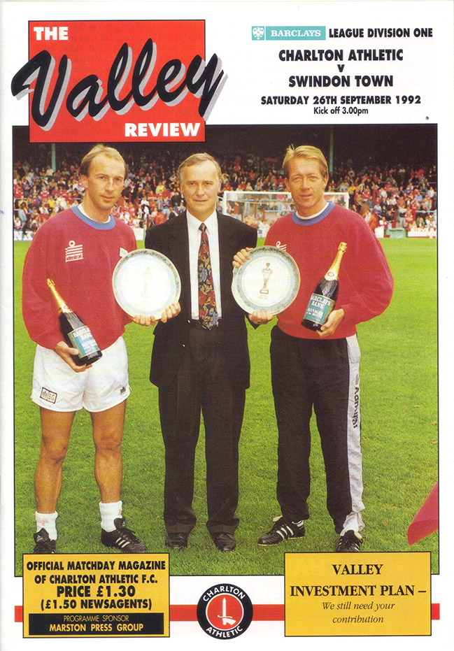 <b>Saturday, September 26, 1992</b><br />vs. Charlton Athletic (Away)