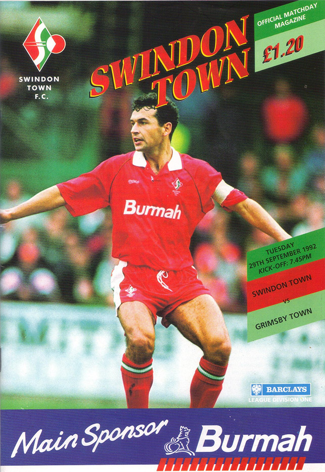 Tuesday, September 29, 1992 - vs. Grimsby Town (Home)