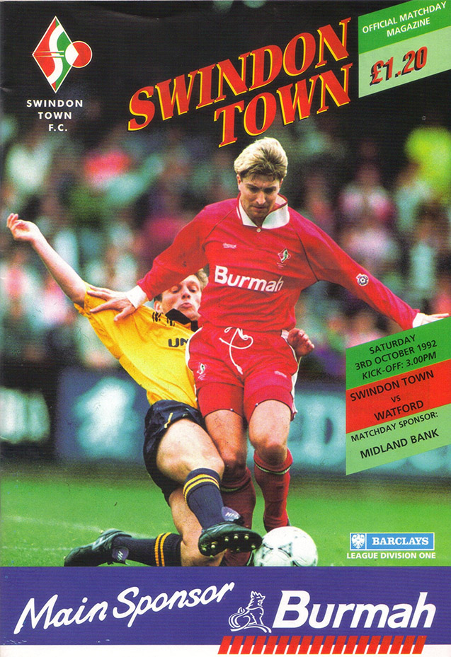 <b>Saturday, October 3, 1992</b><br />vs. Watford (Home)