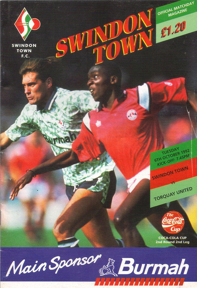 Tuesday, October 6, 1992 - vs. Torquay United (Home)