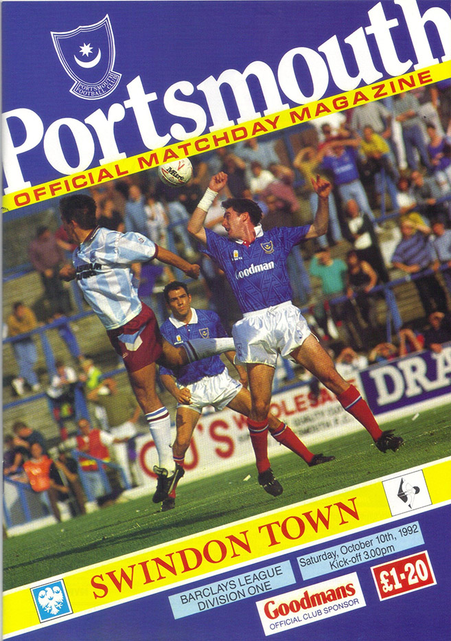 <b>Saturday, October 10, 1992</b><br />vs. Portsmouth (Away)