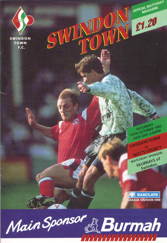 Saturday, October 17, 1992 - vs. Notts County (Home)