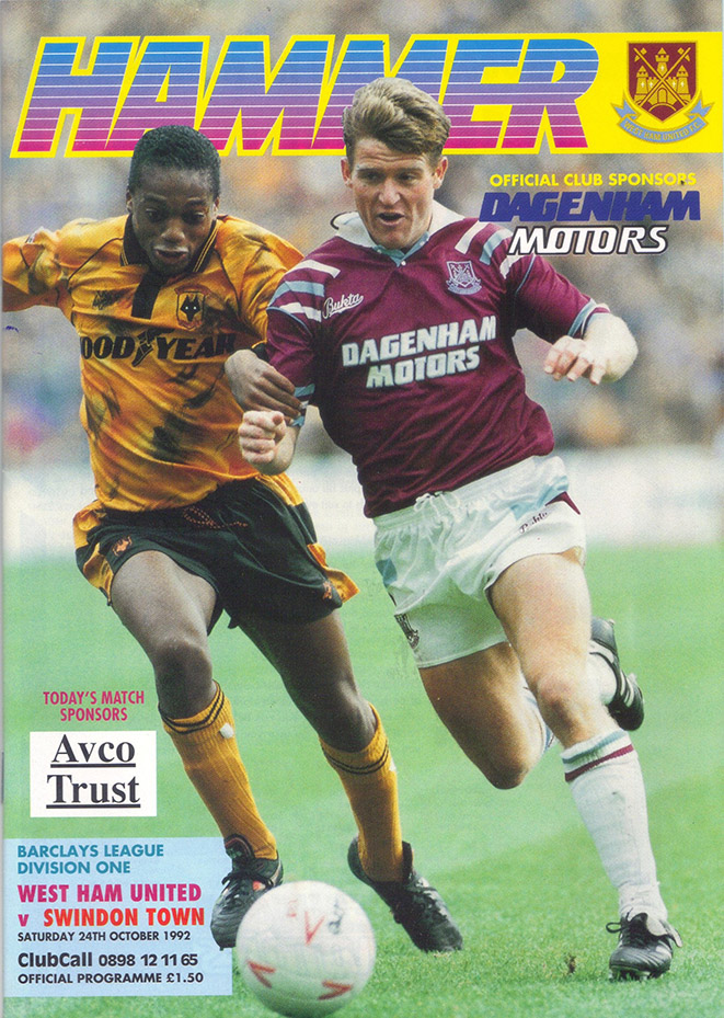 Saturday, October 24, 1992 - vs. West Ham United (Away)