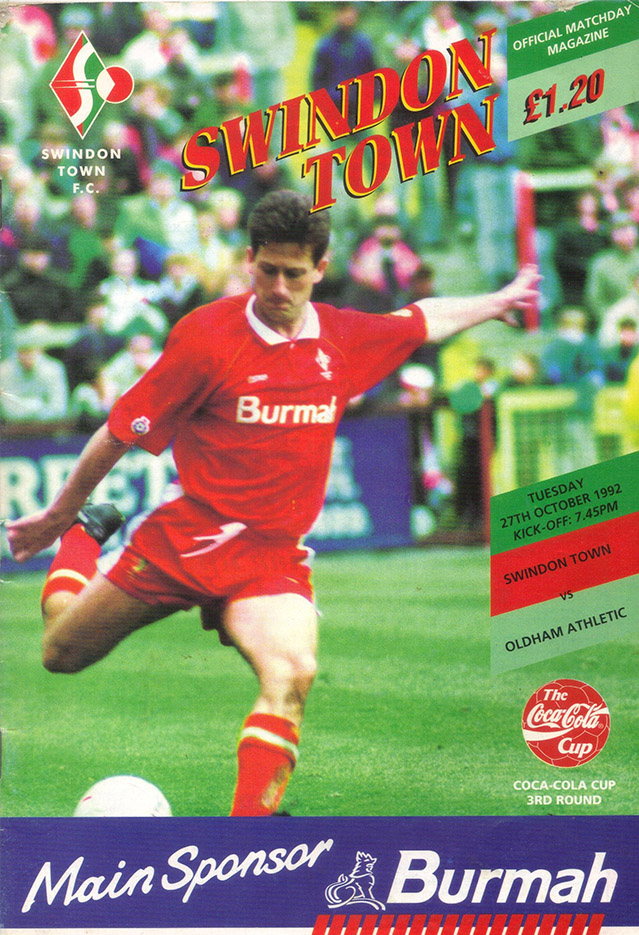 Tuesday, October 27, 1992 - vs. Oldham Athletic (Home)