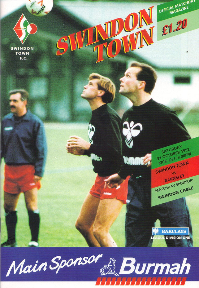<b>Saturday, October 31, 1992</b><br />vs. Barnsley (Home)