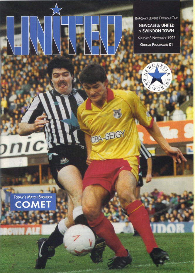 Sunday, November 8, 1992 - vs. Newcastle United (Away)
