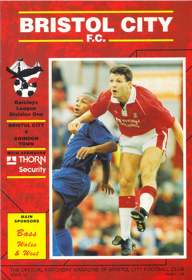 <b>Saturday, November 21, 1992</b><br />vs. Bristol City (Away)