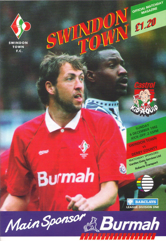<b>Sunday, December 6, 1992</b><br />vs. Derby County (Home)