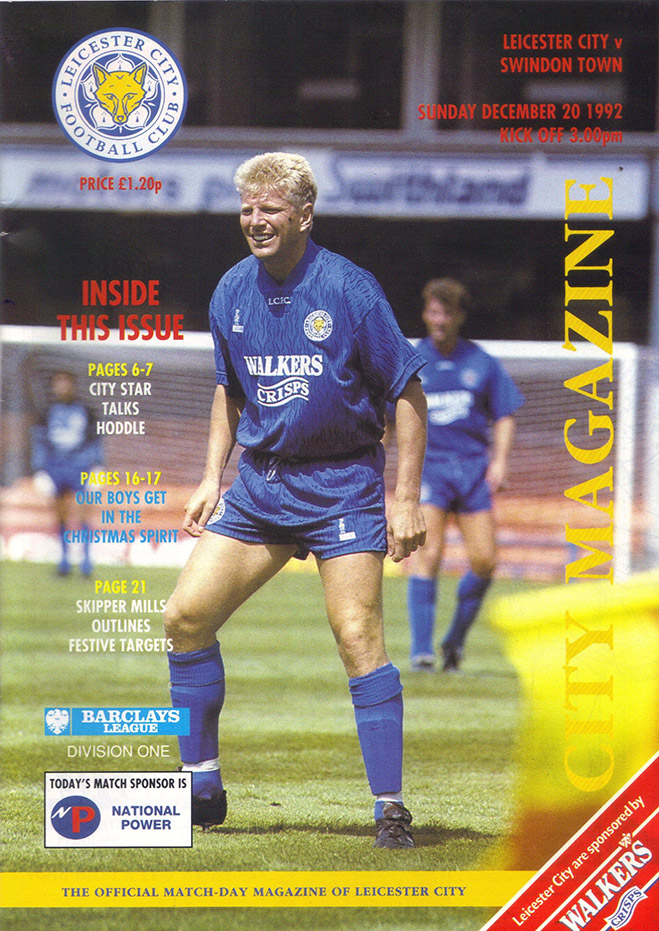 <b>Sunday, December 20, 1992</b><br />vs. Leicester City (Away)