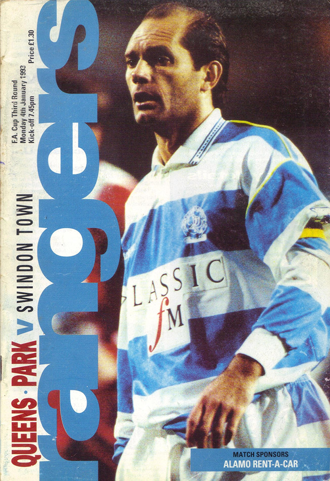 Monday, January 4, 1993 - vs. Queens Park Rangers (Away)