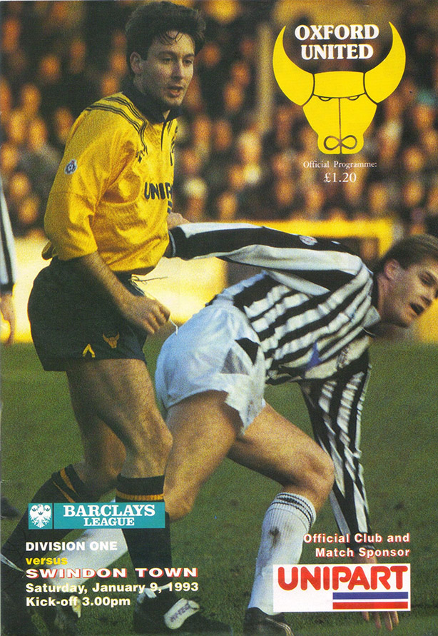 Saturday, January 9, 1993 - vs. Oxford United (Away)