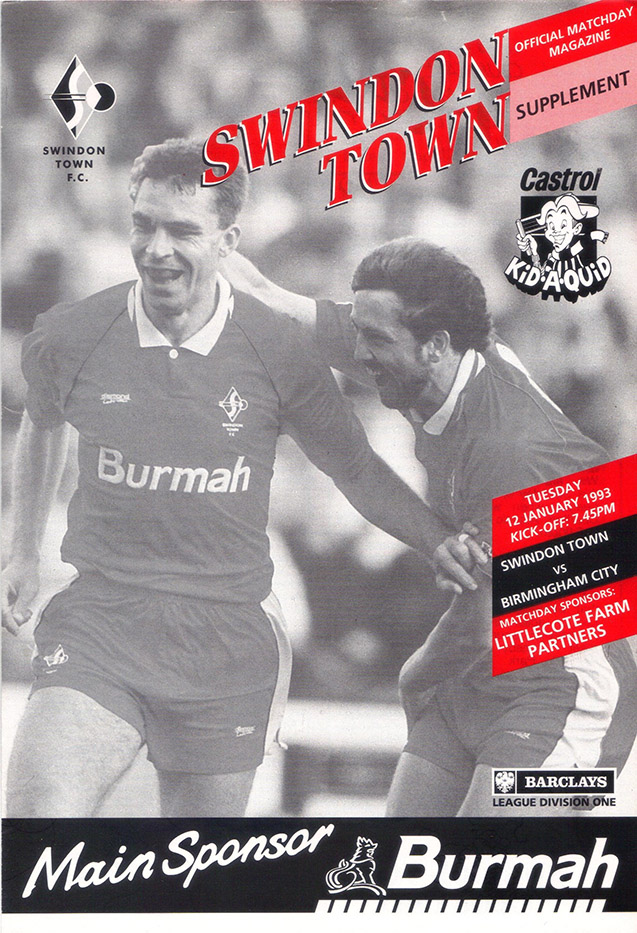 Tuesday, January 12, 1993 - vs. Birmingham City (Home)