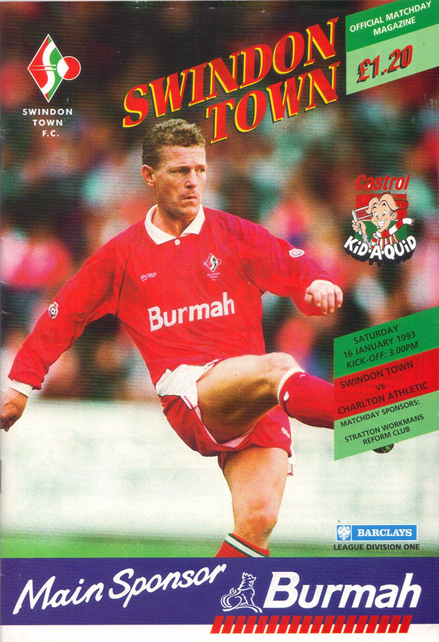 Saturday, January 16, 1993 - vs. Charlton Athletic (Home)