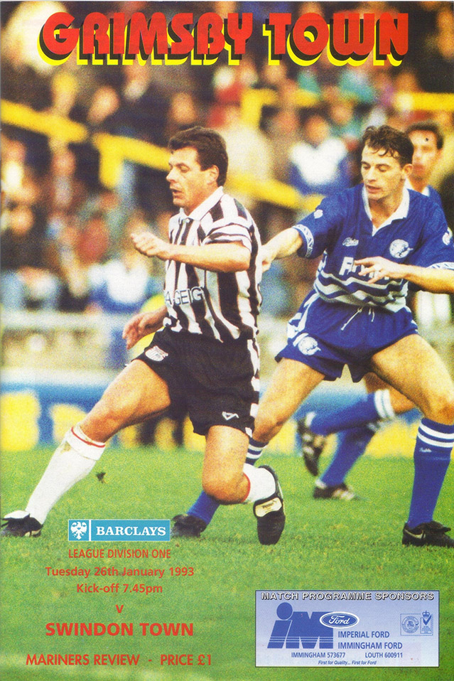 Tuesday, January 26, 1993 - vs. Grimsby Town (Away)
