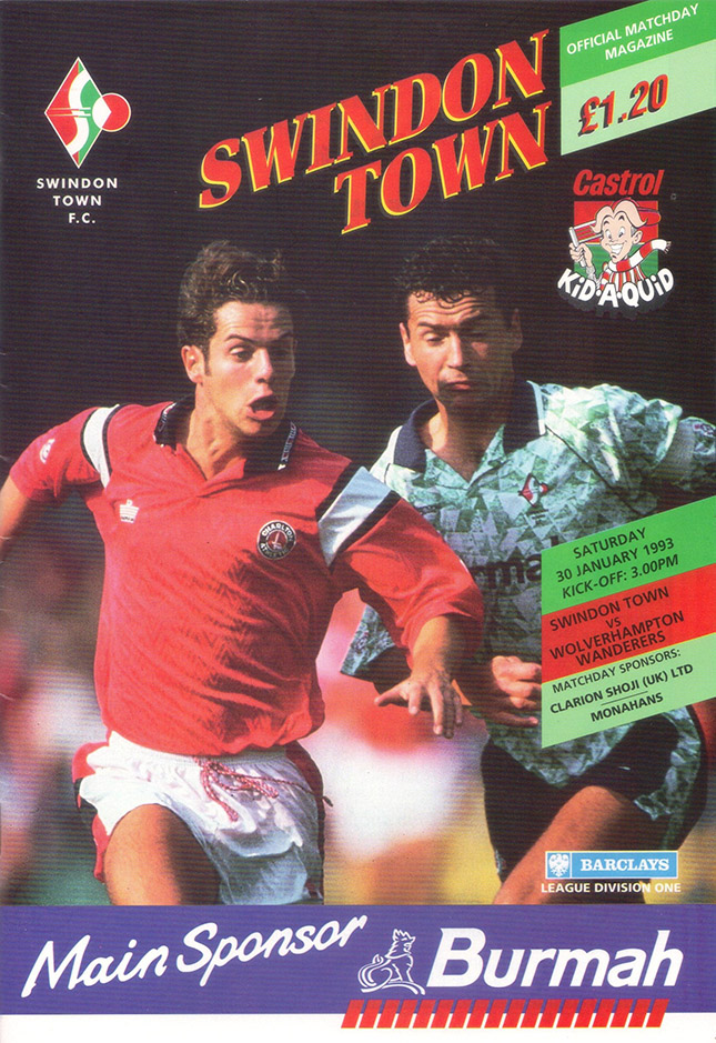Saturday, January 30, 1993 - vs. Wolverhampton Wanderers (Home)