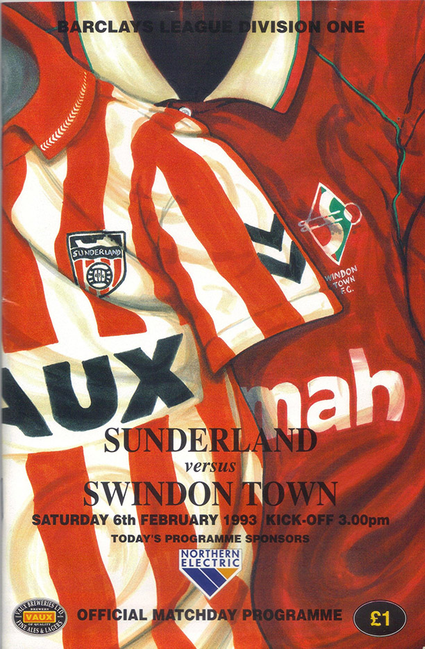 <b>Saturday, February 6, 1993</b><br />vs. Sunderland (Away)