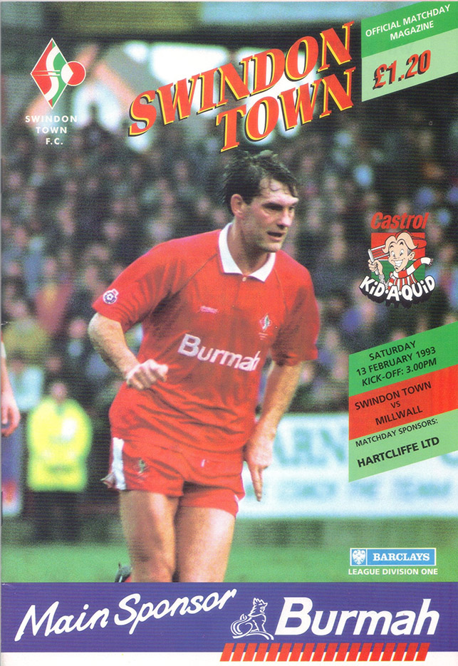 <b>Saturday, February 13, 1993</b><br />vs. Millwall (Home)