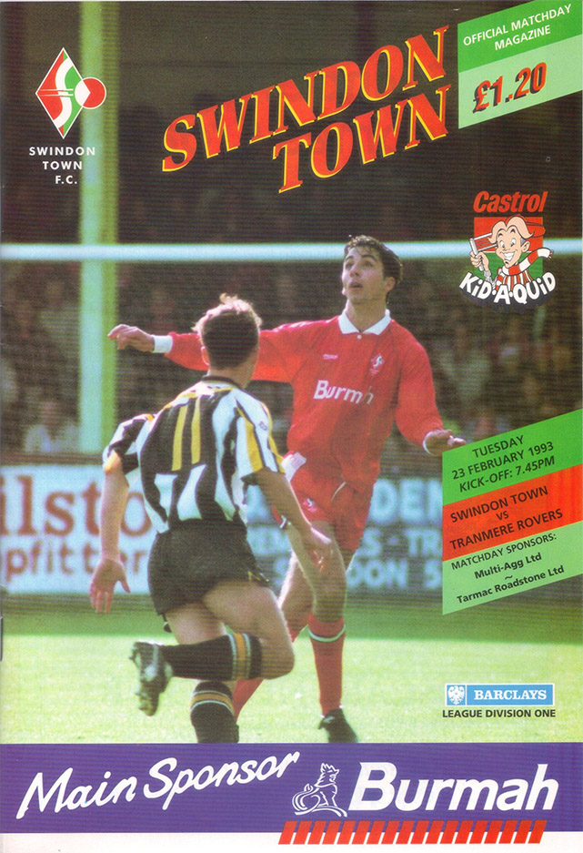 <b>Tuesday, February 23, 1993</b><br />vs. Tranmere Rovers (Home)