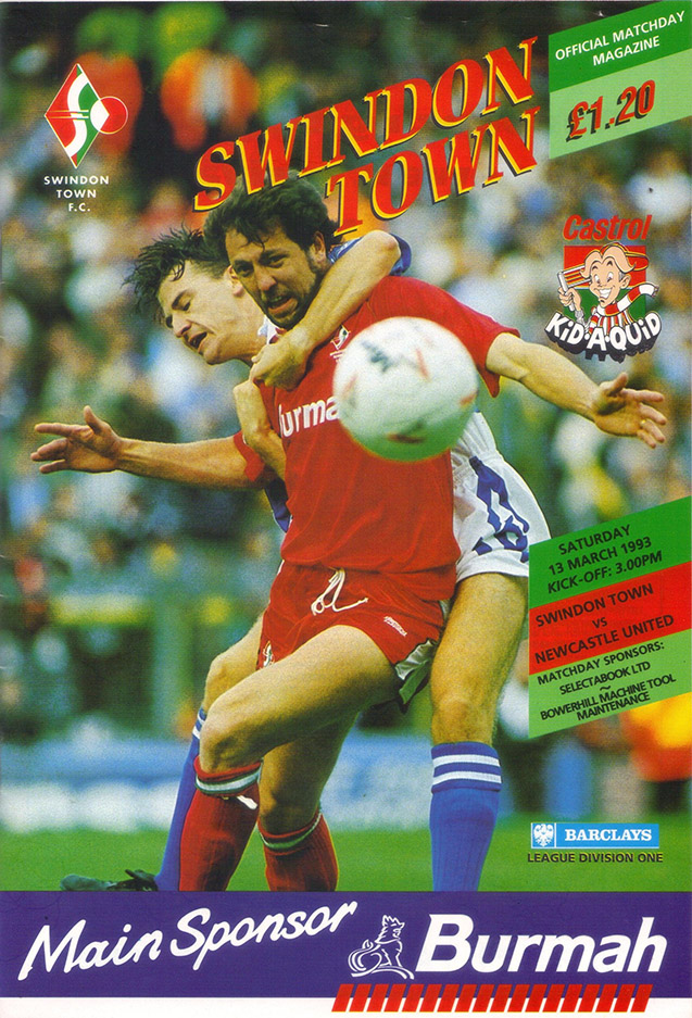 <b>Saturday, March 13, 1993</b><br />vs. Newcastle United (Home)