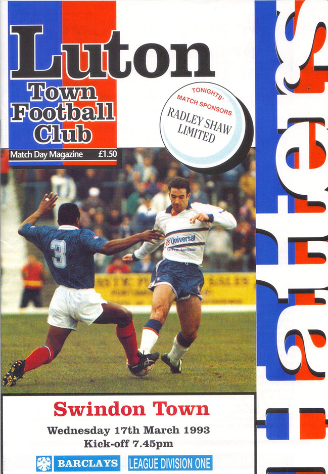 <b>Wednesday, March 17, 1993</b><br />vs. Luton Town (Away)