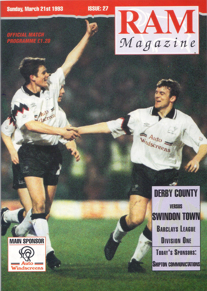 Sunday, March 21, 1993 - vs. Derby County (Away)