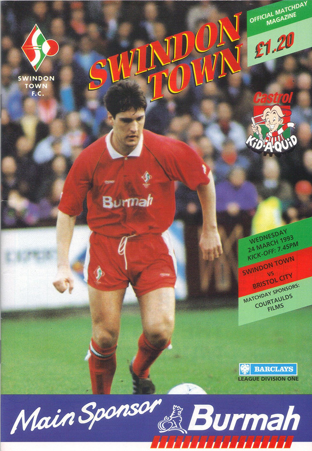 Wednesday, March 24, 1993 - vs. Bristol City (Home)