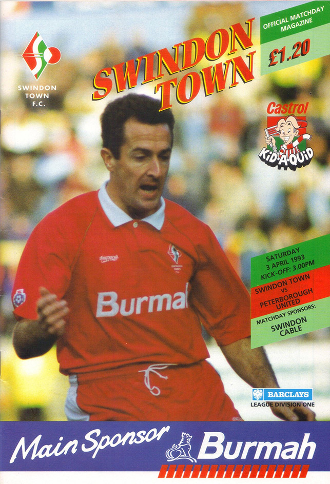 Saturday, April 3, 1993 - vs. Peterborough United (Home)