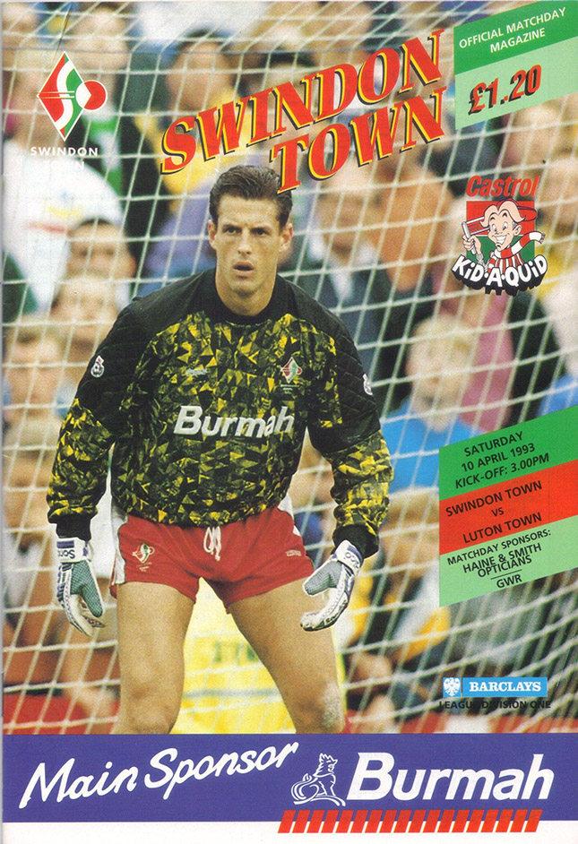 Saturday, April 10, 1993 - vs. Luton Town (Home)